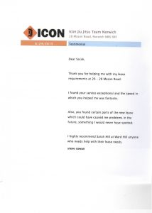 ICON testimonial for Ward Hill