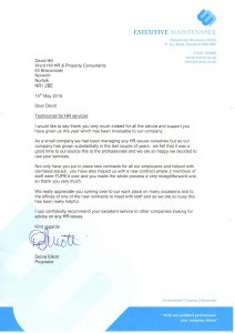 Executive testimonial for Ward Hill